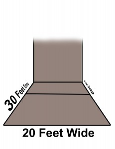Wallball Court dimensions